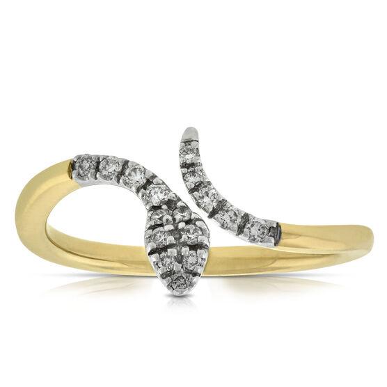 Diamond Snake Ring 14K