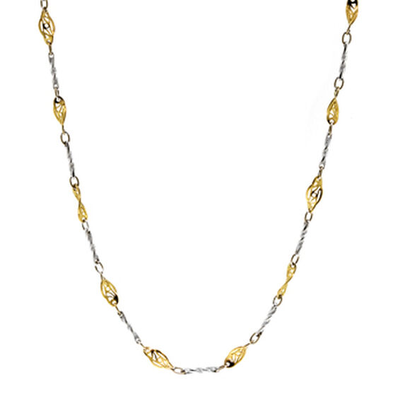Filigree Link Chain 14K