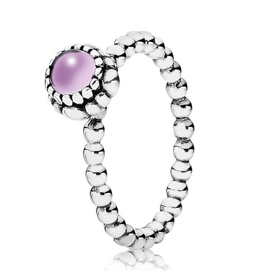 PANDORA Birthday Blooms February Ring