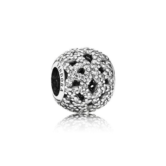PANDORA Shimmering Lace CZ Charm
