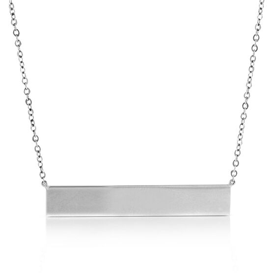 Engravable Bar Necklace 14K