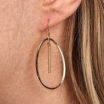 Twisted Oval Earring 14K