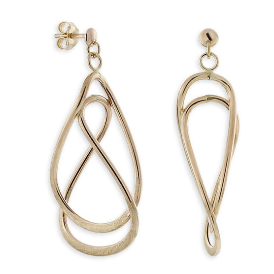 Twisted Oval Earrings 14K