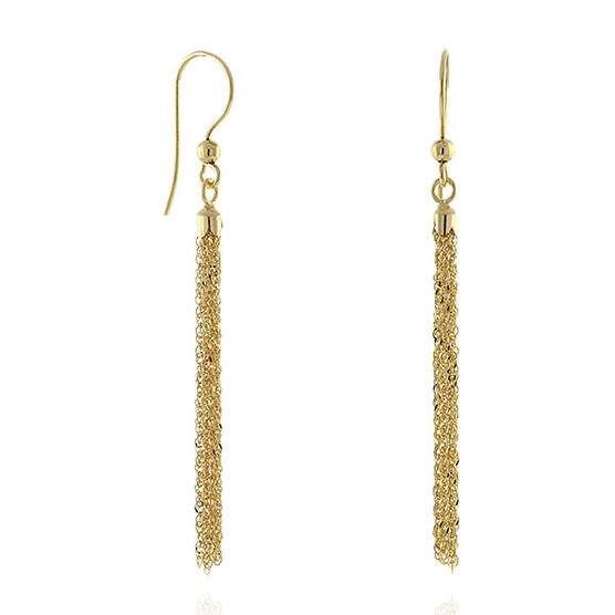 Tassel Dangle Earrings 14K