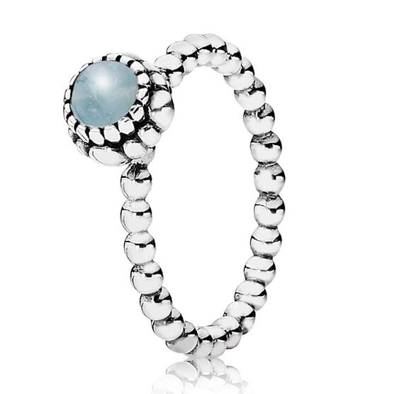 PANDORA Birthday Blooms March Ring