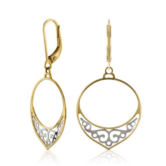 Filigree Dangle Earrings 14K