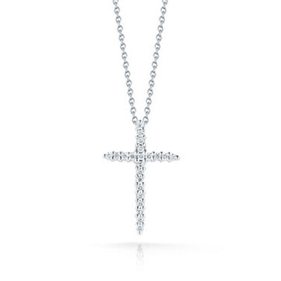 Roberto Coin Diamond Cross Pendant 18K