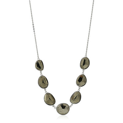 Lisa Bridge Pyrite Station Necklace