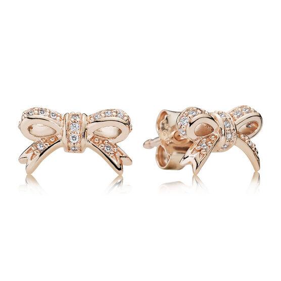 PANDORA Rose™ Sparkling Bow Earrings