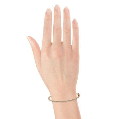 Rose Gold Diamond Bangle Bracelet 14K