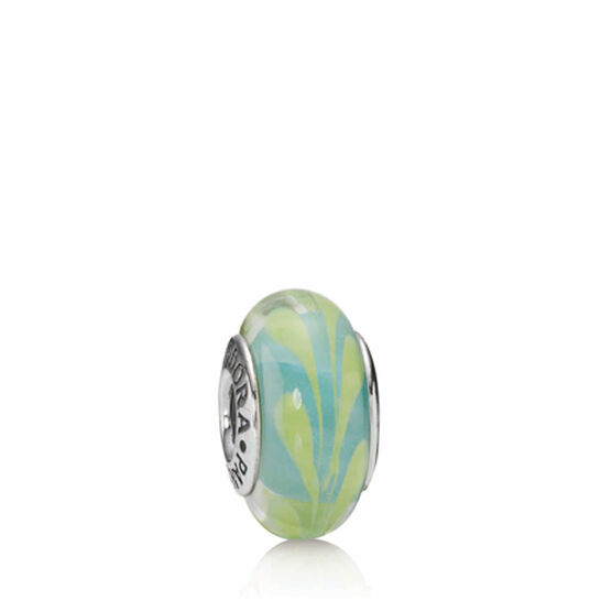 PANDORA Aqua/Green Swirly Swirl Charm RETIRED