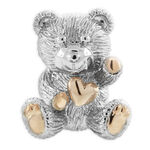 2011 Benny Bear Pendant in Sterling Silver & Rose Rhodium