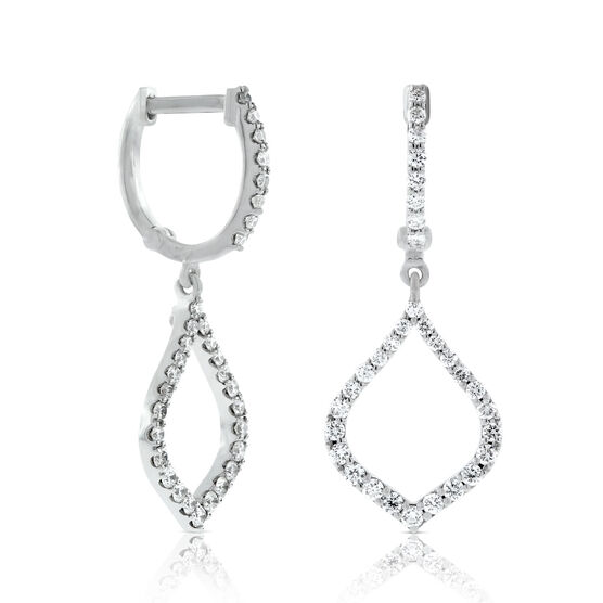 Roberto Coin Diamond Drop Earrings 18K