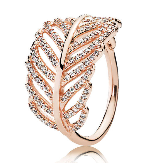 Pandora Rose U2122 Light As A Feather Ring