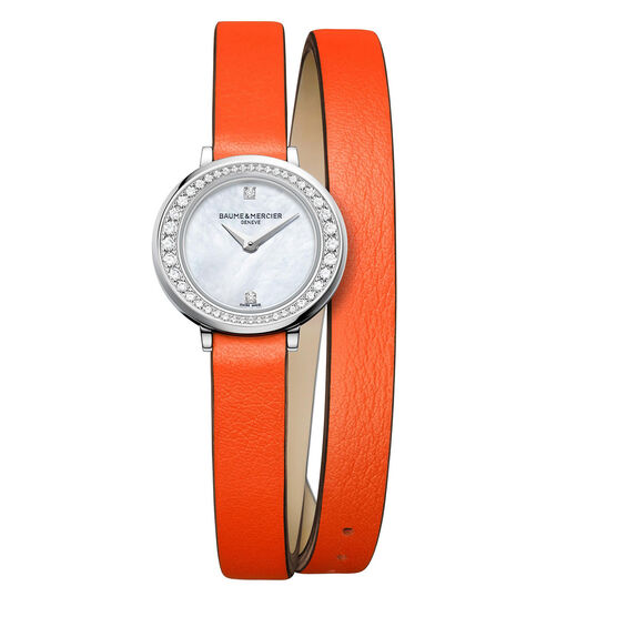 Baume & Mercier Petite PROMESSE Orange Strap Watch