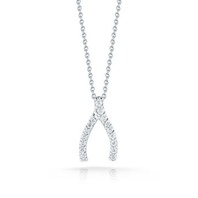 Roberto Coin Diamond Wishbone Pendant 18K
