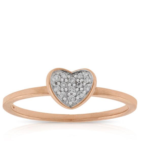 Heart Shaped Diamond Ring 14K