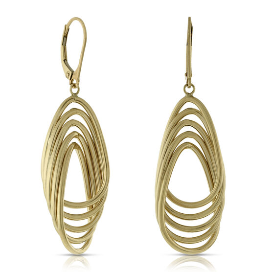 Toscano Collection Tube Dangle Earrings 14K