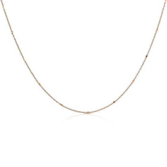 Rose Gold Rolo Cable Chain 14K