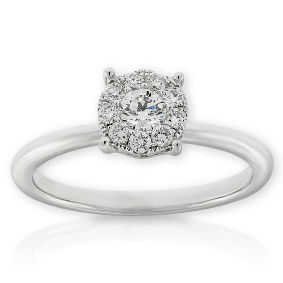 Halo Diamond Ring 14K