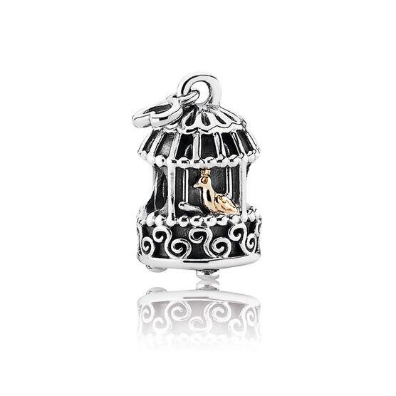 PANDORA Song Bird Charm, Silver & 14K