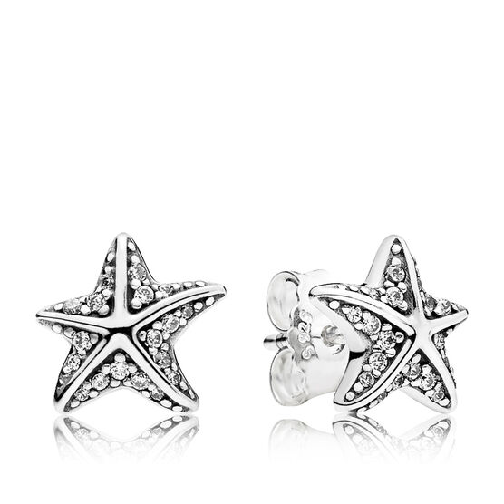 PANDORA Tropical Starfish CZ Earrings