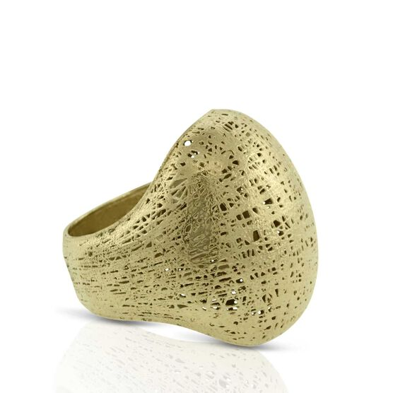 Toscano Textured Ring 18K, Size 7