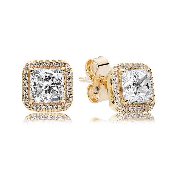 PANDORA Timeless Elegance CZ Earrings, 14K