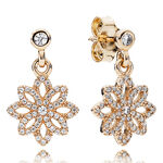 PANDORA Lace Botanique Earrings 14K