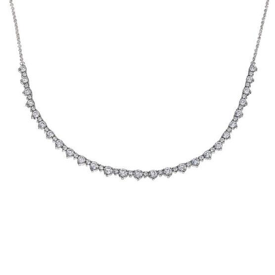 Diamond Necklace 14K, 5ctw.