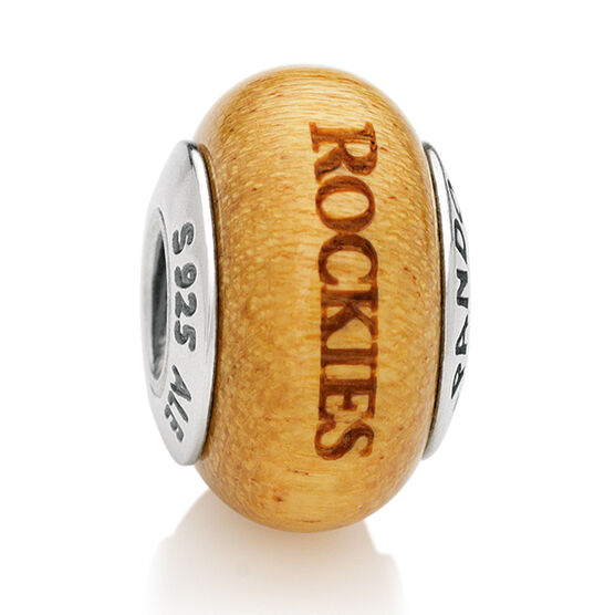 PANDORA Rockies MLB Wood Charm