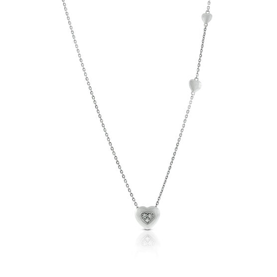 Lisa Bridge Diamond Hearts Combined Pendant