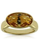Bezel Set Citrine Ring 14K