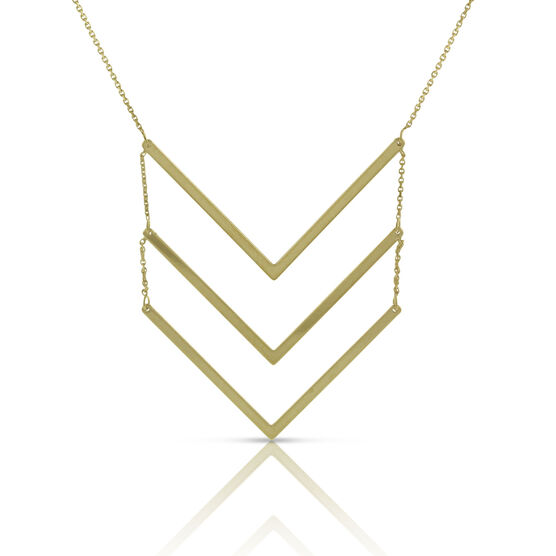 Tiered 'V' Necklace 14K
