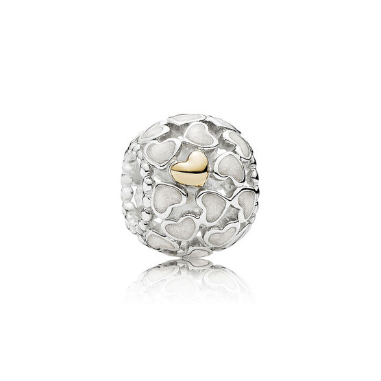 Pandora abundance of love charm silver 14k 791283en23 for How much does pandora jewelry pay