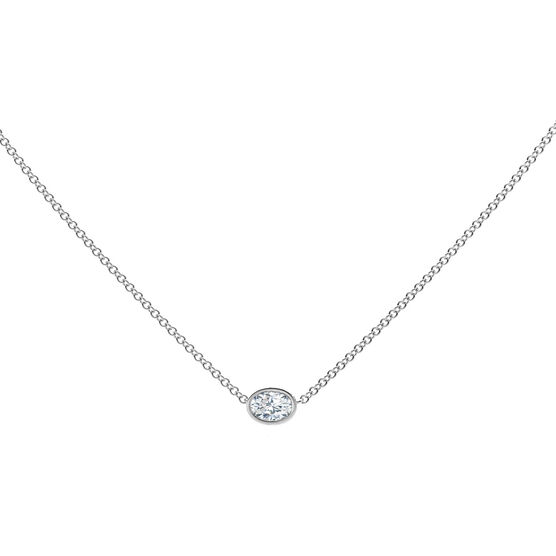 The Forevermark Tribute™ Collection Oval Diamond Necklace 18K