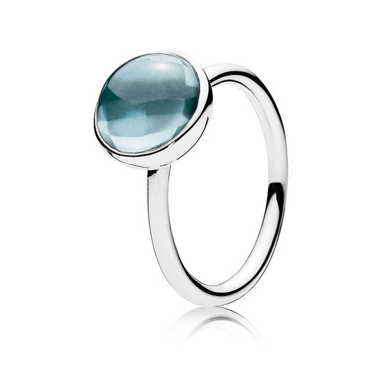 PANDORA Blue Poetic Droplet Ring