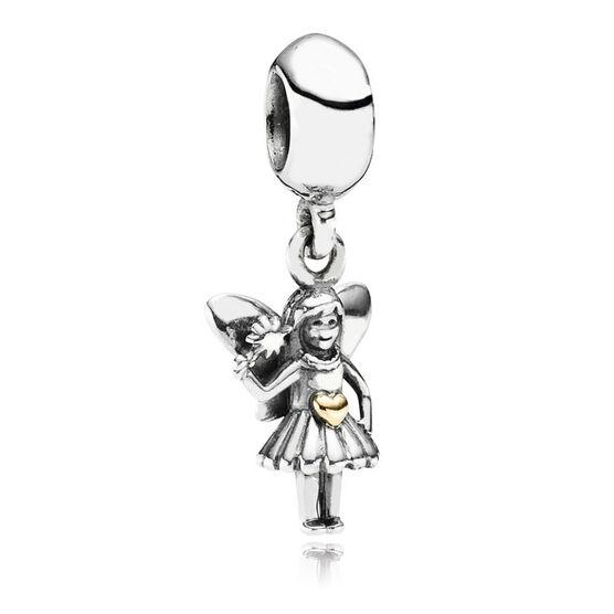 PANDORA Fairy Tale Charm, Silver & 14K