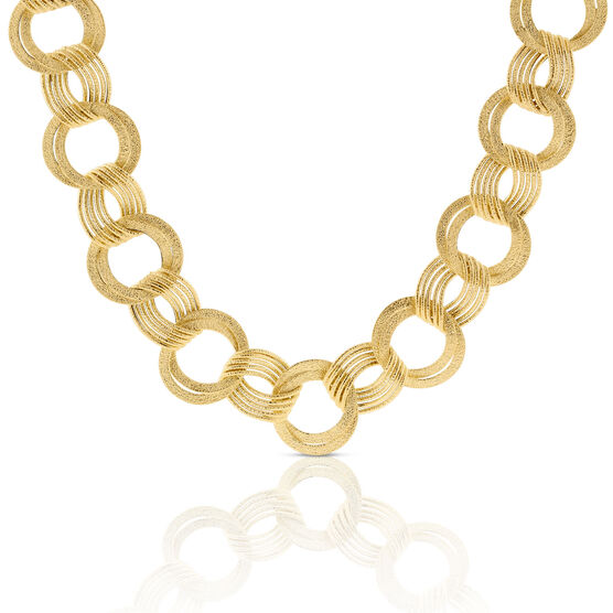 Toscano Open Link Necklace 14K