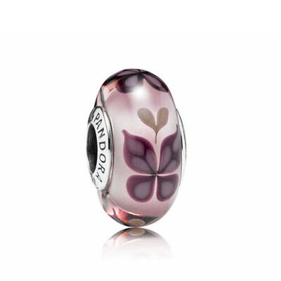 PANDORA Pink Butterfly Kisses Charm