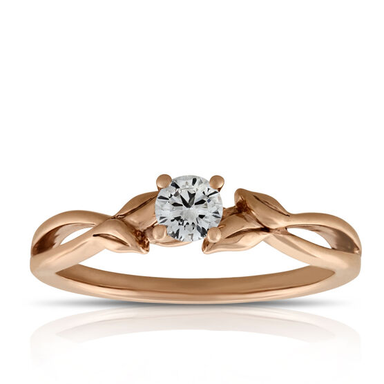 Ikuma Canadian Diamond Engagement Ring 14K Rose