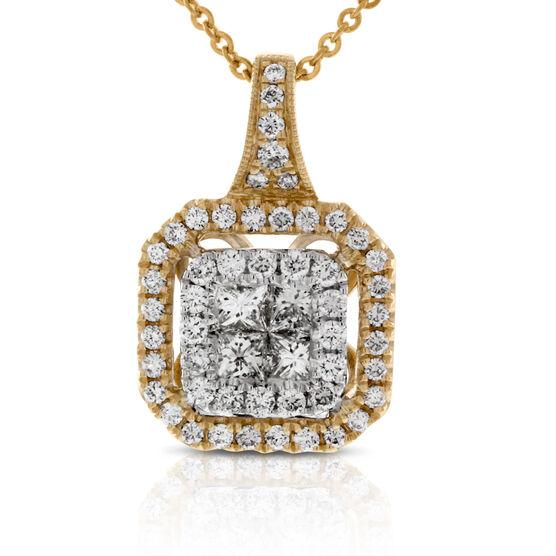 Pavé Diamond Pendant 14K