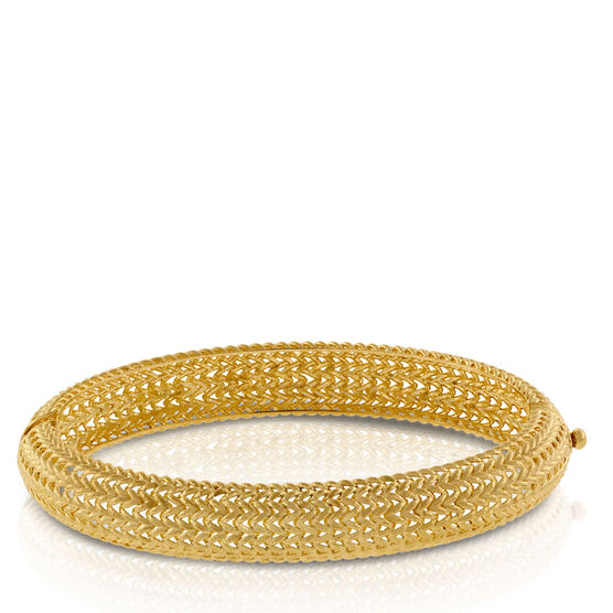Toscano Collection Woven Bangle 14K