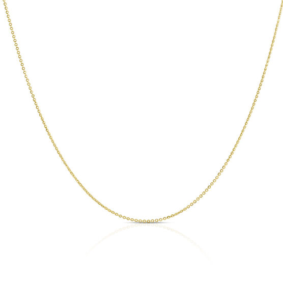 Mirror Rolo Chain 14K, 18""