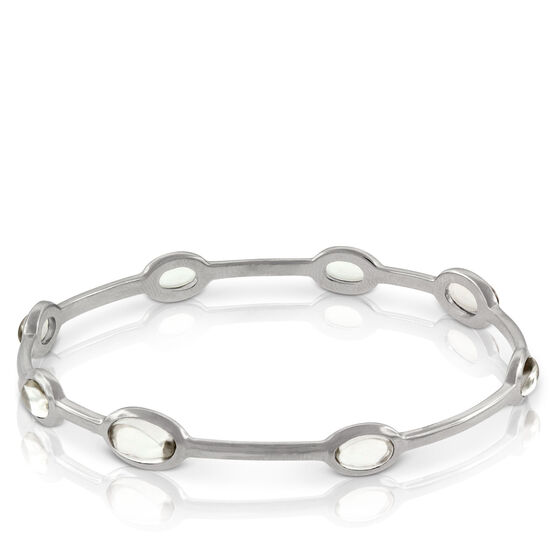 Lisa Bridge Quartz Station Bangle Bracelet