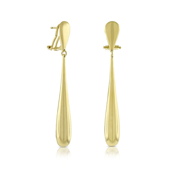 Toscano Collection Long Drop Earrings 14K