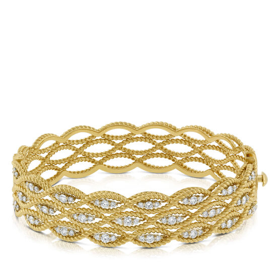 Roberto Coin Diamond Barocco Bangle 18K