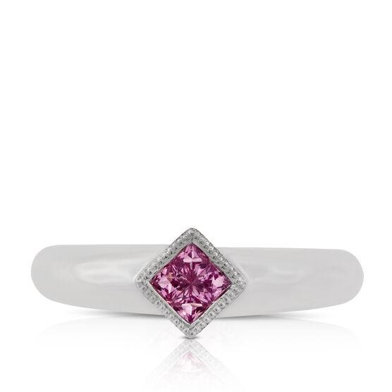 Pink Sapphire Ring 14K