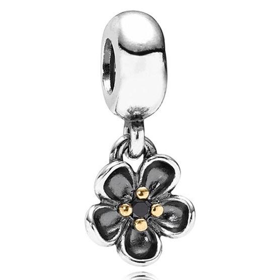 PANDORA Forever Bloom Spinel Charm, Silver & 14K RETIRED