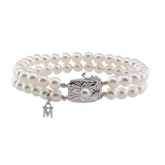 Mikimoto Akoya Cultured Pearl Double Bracelet 6mm, A1, 18K